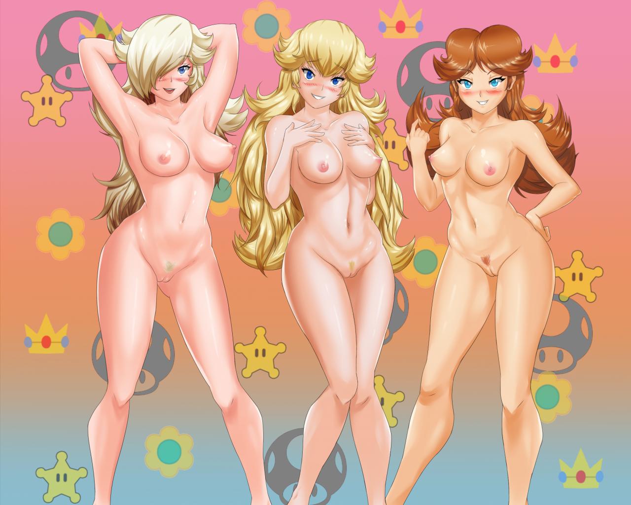 princess daisy+princess peach+princess rosalina